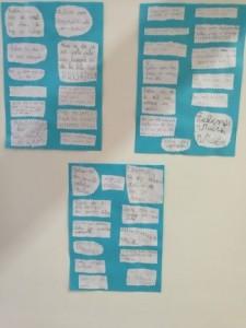 Misli in želje učencev so razstavili v šolski knjižnici, učenci so 22. 12. izžrebali eno misel in se posladkali z bombončkom.